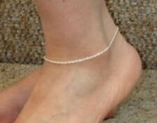 Rope Chain Anklet - 10 inch* (1.5mm* wide) - Sterling Silver - Made in Italy