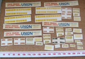 Bus Model Waterslide Code 3 decals OO/HO Union Coaches ref5