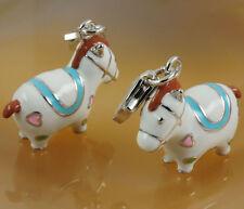 Charm 925 Silber 3D Pferd / Ponny Bettelarmband Anhänger Charm Träger NEU