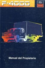 1996 FORD F4000 MANUEL DEL PROPIETARIO OWNER'S MANUAL BETRIEBSALEITUNG ARGENTINA
