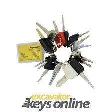 Excavator Key Set 16 Keys Heavy Plant Caterpillar Komatsu Hitachi, Plant keys