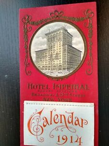 1914 Hotel Imperial Robert Stafford Broadway NY Advertising Calendar