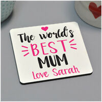 Personalised Worlds Best Mum Mummy Nan Drinks Coaster Birthday Gifts for Her