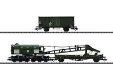 Trix 23057 Spur H0 Dampfkran Ardelt 57t der DB mit Kranschutzwagen #NEU in OVP#