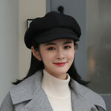Winter Women Lady Girls Beret Hat Baker Boy Peaked Cap Newsboy Military Fashion