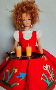 VINTAGE BARBIE CHRISTY MIDGE STACY MODIFIED RED FRIDAY NIGHT DATE #979 DRESS SET