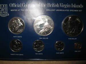 Rare 1979 British Virgin Islands BU Unc Mint Set Coins Franklin Mint Old Foreign