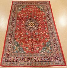 New listing Persiann Sarouk Rug Hand Knotted Wool Red Navy Floral Oriental Carpet 8 x 12