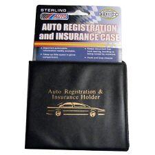 Auto Car Truck Registration Insurance Holder Wallet Black Case Id Card