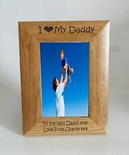 Daddy Photo Frame - I heart-Love My Daddy 4 x 6 Photo Frame - Free Engraving
