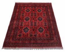 Afghan Khal Mohammadi 222 x 167 cm Handgeknüpfter Orientteppich dunkel rot