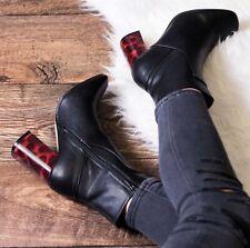 ASOS Miisy TORTOISESHELL Heeled BOOTIES Ankle BOOTS Black, UK5-US 7M