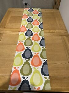 Table Runner Orla Kiely Scribble Pear Fabric 52 Inches Long