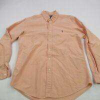 Polo Ralph Lauren Mens Shirt Long Sleeve Peach Custom Casual Button Down