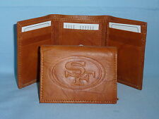 SAN FRANCISCO 49ERS   Leather TriFold Wallet    NEW    brown 3  m1