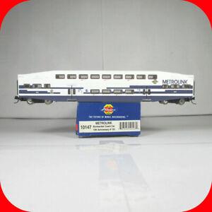 N Scale BOMBARDIER METROLINK Bi-Level Passenger Coach Car #191 --- ATHEARN 10147