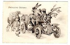 POSTCARD THIELE (UNSIGNED) RABBITS AND CHICKENS WITH AUTO T.S.N. SERIES 654