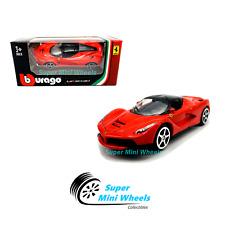 Bburago 1:64 Ferrari LaFerrari ( Red ) Race & Play 2019 Brand New