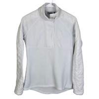 Athleta 1/2 Zip Fleece Performance Jacket XS White Quilted Athletic Fitness