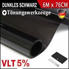 Auto Tönungsfolie Autofolie Scheibenfolie Sonnenschutzfolie 6m x 76cm Schwarz 5%