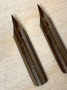 (2) Vintage Esterbrook 357 DREAM POINT Extra Fine Flexy Dip Pen Nibs