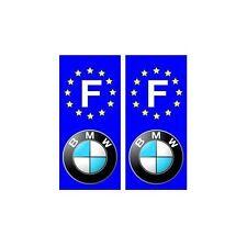 BMW F voiture autocollant plaque droits