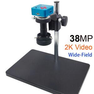 38MP HDMI USB 1080P Industry Video Microscope Camera + 5X-100X Wide field Lens