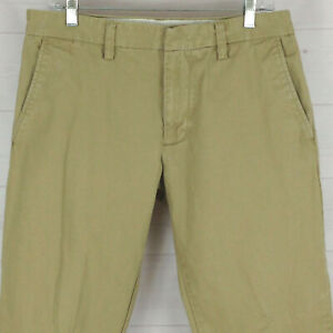 Old Navy mens 31 x 32 beige 100% cotton flat front classic loose chino pants