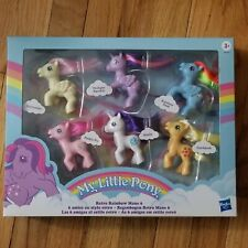 My Little Pony Retro Rainbow Mane 6 80s-Inspired Collectable Pony Figures 3""
