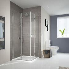 Duschkabine 90x90x185 Falttür Duschabtrennung Duschtür Glas 6mm ESG Duschwand
