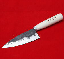 "4.5"" Blade Rail Cast Iron Forged Knife Sashimi Deba Chef Kitchen Hand Korea IGSA"