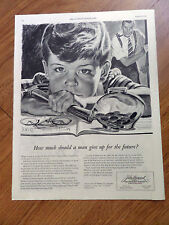 1946 John Hancock Life Insurance Ad How Much Should a Man give up for the Future