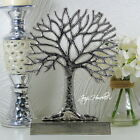 Silver Tree Of Life Ornament Home Decoration Metal Sculpture Large 28 Cm