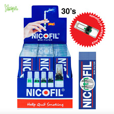 Nicofil Mini Filter 6000 Disposable Tar Trap Cigarette Filter(30 Units)