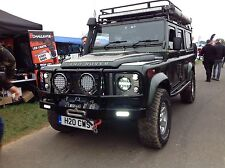 land rover defender 7'' Black LED High Out Put Head Lights great wrangler golf