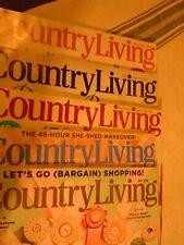 5  x Country Living ,Zeitschrift zm Wohnen,Deko,Garten, englisches Original, USA