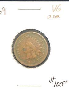 1869 Indian Cent VG Details