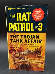 David King THE RAT PATROL #3 Trojan Tank Affair vintage 1967 TV Tie In PB