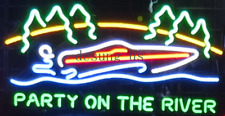 "New Party At The River Party Time Neon Light Sign 24""x20"""