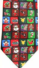 "Addictiont Men's Holiday Novelty Polyester Tie 59"" X 3.75"" Christmas Things"