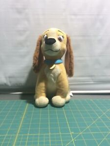 DISNEY LADY AND THE TRAMP Lady Plush Collectible Stuffed Animal Dog Toy LOVELY