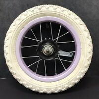 "12"" Rear Purple Bicycle Wheel w/ Coaster Brake & 12 1/2"" x 2 1/4"" Tire Bike #G13"