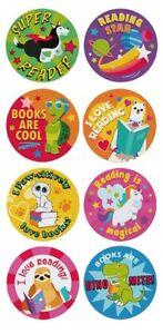 Reading Reward Stickers Books Are Cool Kids Home School Teacher Children 25mm