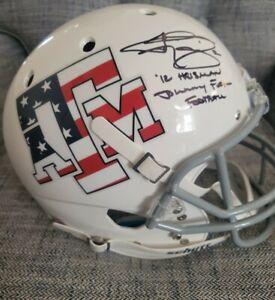 Texas A&M Johnny Manziel 2x Insc. Signed/Auto Schutt Full Size Rep Helmet JSA!