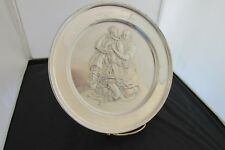 Danbury Mint Sterling Silver Plate Holy Family By Michelangelo  #6898