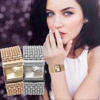 Women's Fashion Watch Crystal Dial Stainless Steel Quartz Analog Wrist Watches