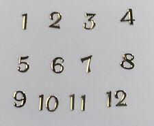 Watch Dial Hour Gold Markers Numbers Numerals 3.5mm Small Miniature Parts Dots