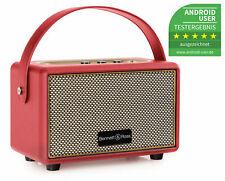 Tragbarer Vintage Bluetooth Lautsprecher Wireless Akku Box USB SD AUX MP3 Rot