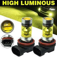 2 X High Power Led Lights 100W H8 H11 Yellow Fog Light 2828 20LED Headlight Lamp