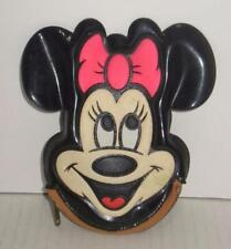 Vintage 70s Minnie Mouse Zipper Coin Purse Squeaker Walt Disney World Souvenir